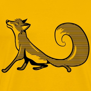 Fox funny vain striped T-Shirts - Men's Premium T-Shirt