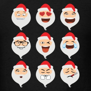 Santa Claus Asian Emojis Christmas Funny TShirt - Men's T-Shirt