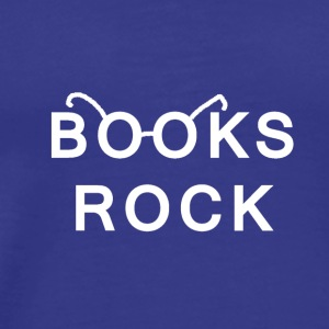 Books Rock White Logo - Men's Premium T-Shirt