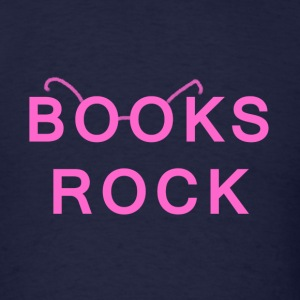 Books Rock Pink - Men's T-Shirt