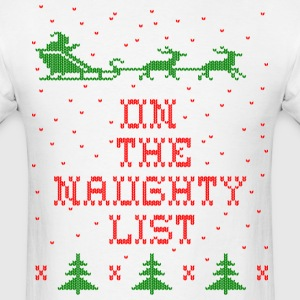 On the naughty list T-Shirts - Men's T-Shirt