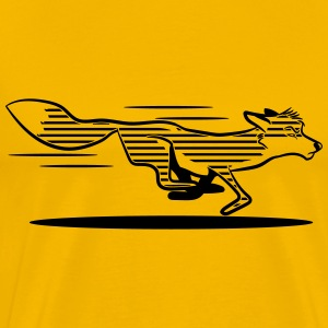 Fox running race striped T-Shirts - Men's Premium T-Shirt