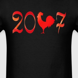 2017 the year of the Rooster New Year T-Shirt T-Shirts - Men's T-Shirt