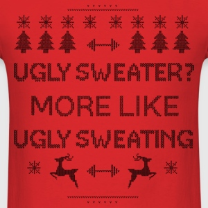 Workout Sweating Ugly Christmas  - Men's T-Shirt