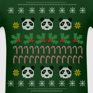 Panda Ugly Christmas Sweater  - Men's T-Shirt