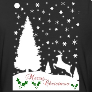 Merry Christmas Winter Snowflakes Mens Baseball T- - Baseball T-Shirt