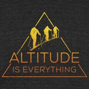 Altitude is everything - Unisex Tri-Blend T-Shirt by American Apparel