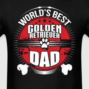 World's Best Golden Retriever Dad Dog Owner Shirt - Men's T-Shirt