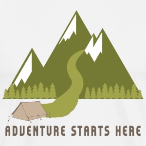 Camping Hiking Adventure - Men's Premium T-Shirt