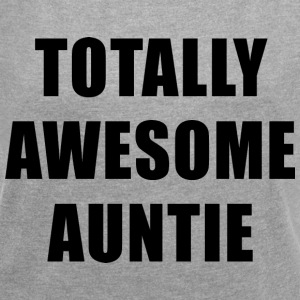 Totally Awesome Auntie T-Shirts - Women´s Rolled Sleeve Boxy T-Shirt