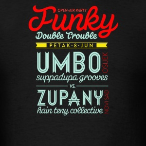 Open air party funky double trouble - Men's T-Shirt