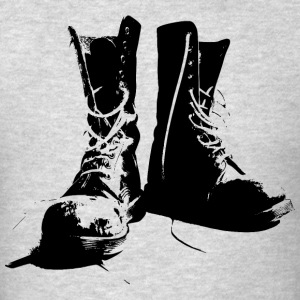 Grunge Punk Boots - Men's T-Shirt