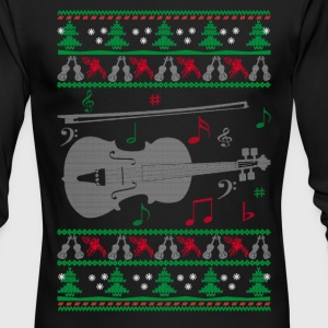 Violin Christmas - Men's Long Sleeve T-Shirt by Next Level