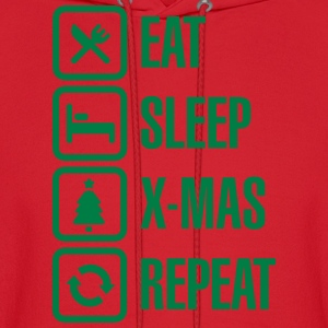 Eat sleep Christmas/X-Mas Repeat Hoodies - Men's Hoodie