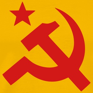 Communism Hammer Sickle Flag - Men's Premium T-Shirt