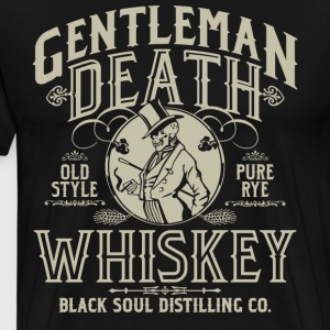 Gentleman Death Whiskey T-Shirts - Men's Premium T-Shirt