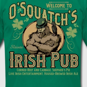 O'Squatch's Irish Pub - Men's T-Shirt by American Apparel