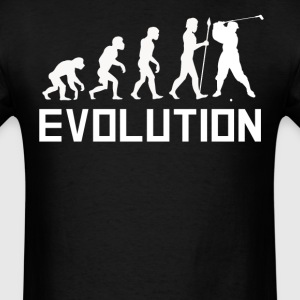 Golfer Evolution Funny Golf Shirt - Men's T-Shirt