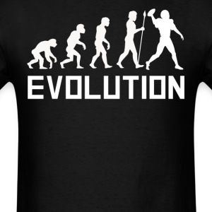 Quarterback Evolution Funny Football Shirt - Men's T-Shirt