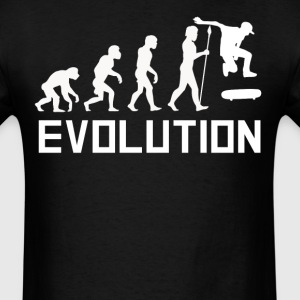 Skater Evolution Funny Skateboarding Shirt - Men's T-Shirt