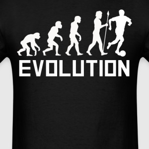 Soccer Player Evolution Funny Soccer Shirt - Men's T-Shirt
