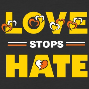 Protest Quote - Love stops Hate T-Shirts - Baseball T-Shirt