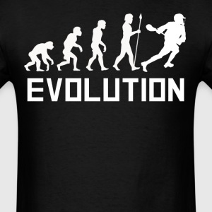 Lacrosse Player Evolution Funny Lacrosse Shirt - Men's T-Shirt
