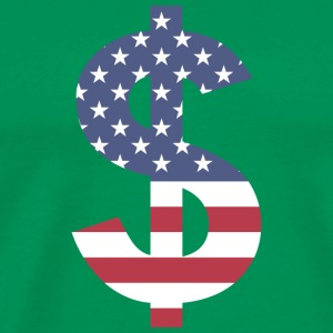 Dollar Sign US Flag - Men's Premium T-Shirt