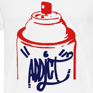 Spray Bomb Graffiti Addict - Men's Premium T-Shirt