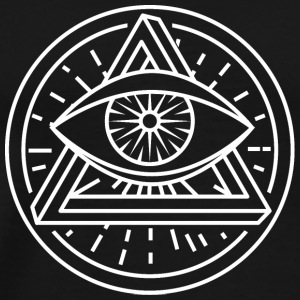 Eye Of Providence with Optical Illusion - Men's Premium T-Shirt