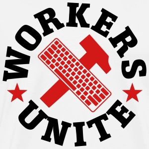 Workers Hammer keybord Nerd Geek Communist - Men's Premium T-Shirt