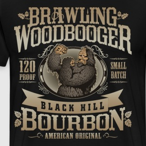 Brawling Woodbooger Black Hill Bourbon - Men's Premium T-Shirt