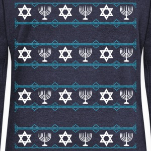 hanukkah winter Long Sleeve Shirts - Women's Wideneck Sweatshirt
