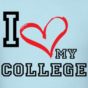 I_LOVE_MY_COLLEGE - Men's T-Shirt