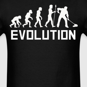 Custodian Evolution Funny Janitor Shirt - Men's T-Shirt