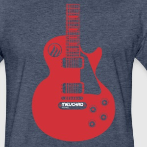 Meuchad Guitar T-Shirts - Fitted Cotton/Poly T-Shirt by Next Level