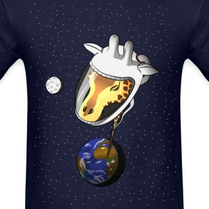 giraffe in space T-Shirts - Men's T-Shirt