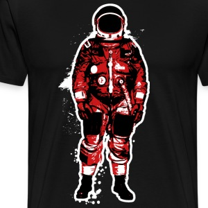 Astronaut Grunge Red - Men's Premium T-Shirt