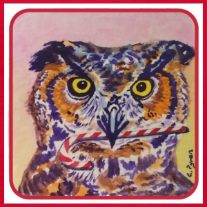 Candy Cane Owl - Kids' T-Shirt
