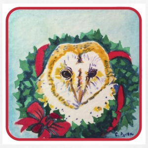 Wreath Owl - Kids' T-Shirt