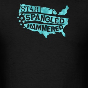 Star spangled hammered - Men's T-Shirt