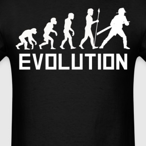 Firefighter Evolution Funny Fireman Shirt - Men's T-Shirt
