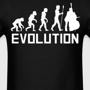Standing Bass Evolution Funny Music Shirt - Men's T-Shirt