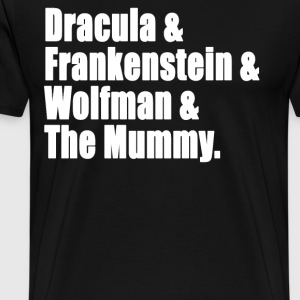 Universal Monsters T-Shirts - Men's Premium T-Shirt