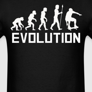 Skateboarder Evolution Funny Skateboarding Shirt - Men's T-Shirt