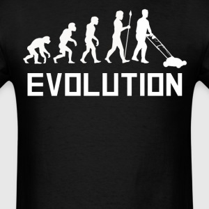 Mowing The Lawn Evolution Funny Lawn Mower Shirt - Men's T-Shirt