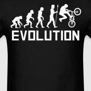 BMX Biker Evolution Funny BMX Shirt - Men's T-Shirt