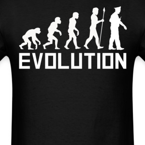 Policeman Evolution Funny Police Officer Shirt - Men's T-Shirt