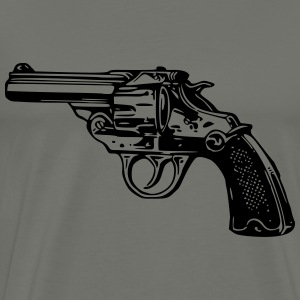 Simple Revolver Pistol - Men's Premium T-Shirt