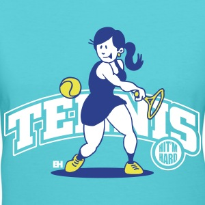 Tennis, Hit'm hard T-Shirts - Women's V-Neck T-Shirt